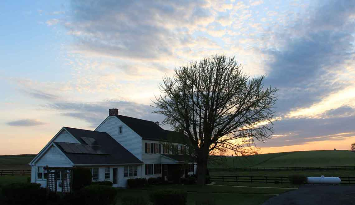 sunrise at Pleasant View Farm