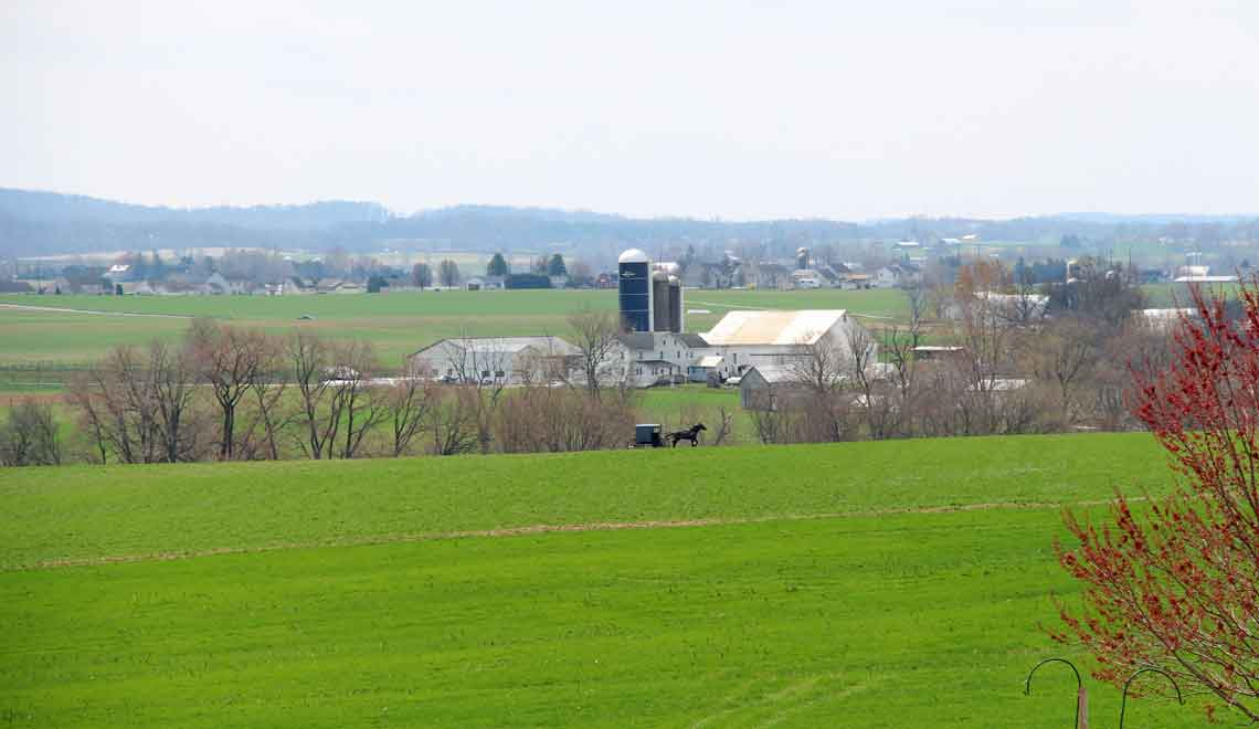 farmland across the road